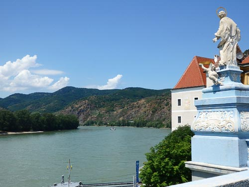 Durnstein on the River Danube Cycle Path