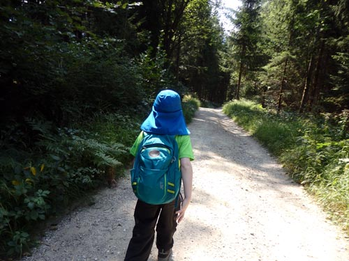 young hiker on a trail