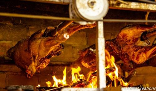 Lambs roasting
