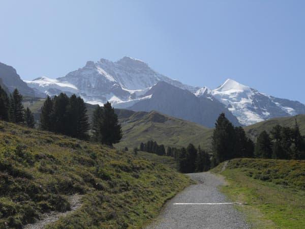 mountain trail switzerland