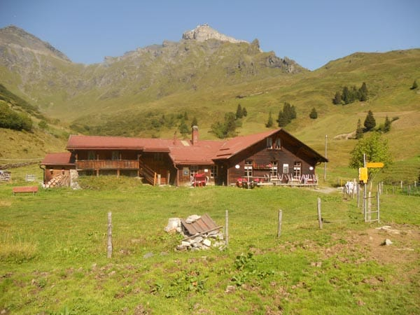 Mountain hut in Switzerland