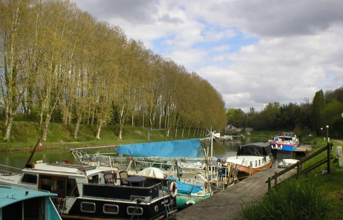 French canal with boat