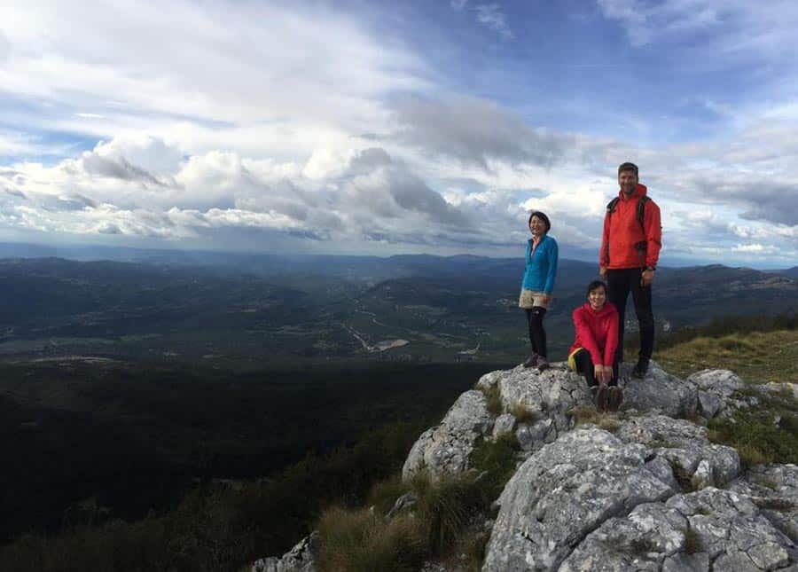 Hikers in Croatia
