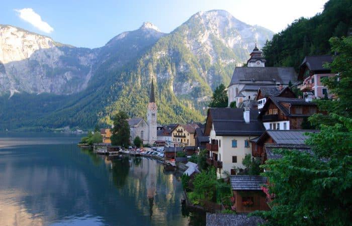 Lake side town in Austria