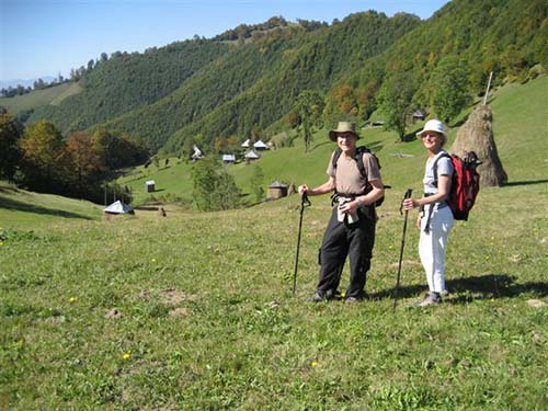 Hikers in Romania