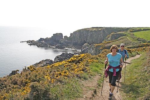 Hiker in Pembrokeshire