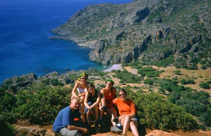 Hikers in Crete