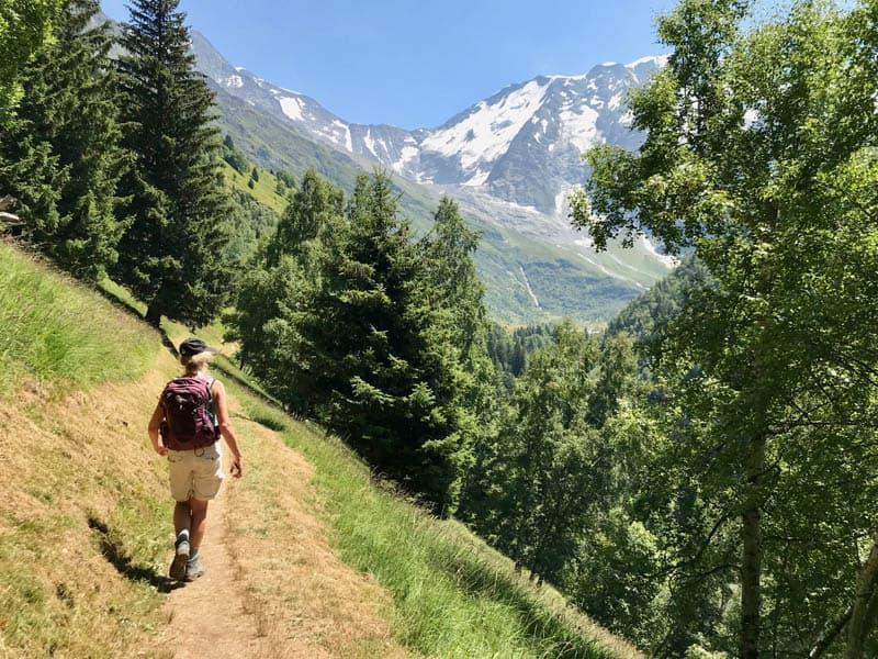 Walk from La Gruvaz via Chalets de Miage to Les Contamines-Montjoie