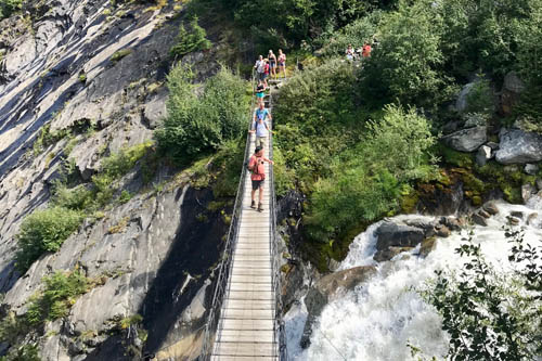 Walk from Les Houches via Chalets Miage to La Gruvaz with Linda, Marc and Arjan