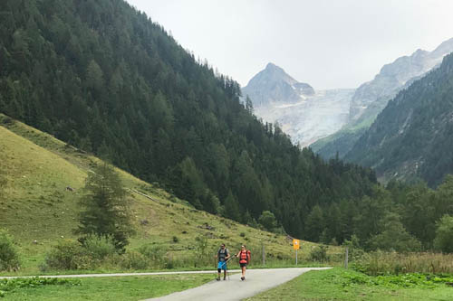 Car drive from Le Tour to Trient