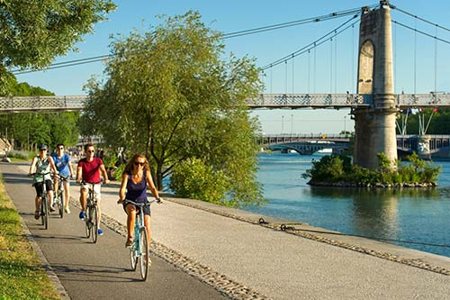 Cycling along the River Rhone